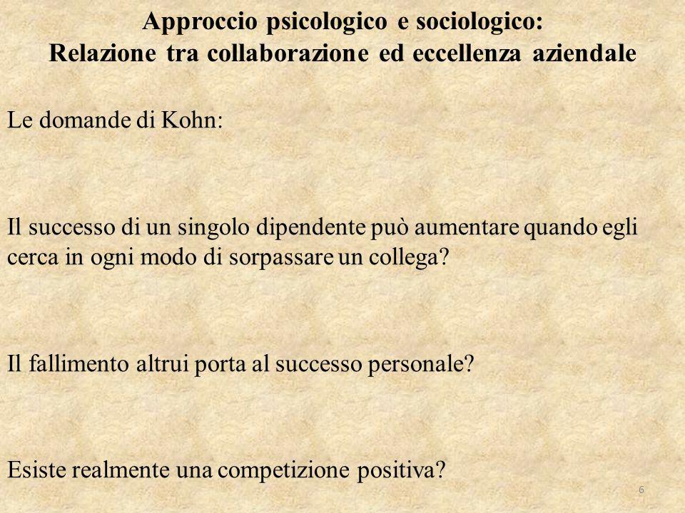 Approccio psicologico e sociologico: