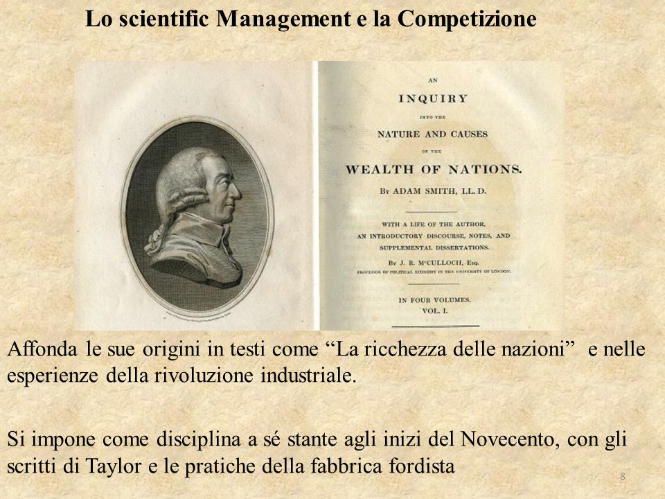 Lo scientific Management e la Competizione