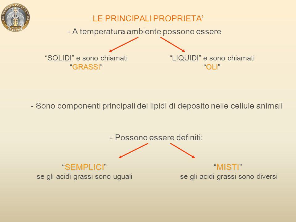 LE PRINCIPALI PROPRIETA'
