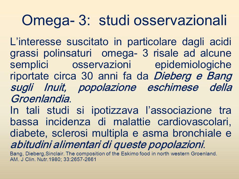Omega- 3: studi osservazionali