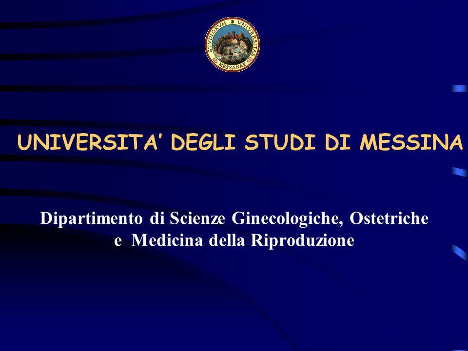 UNIVERSITA' DEGLI STUDI DI MESSINA
