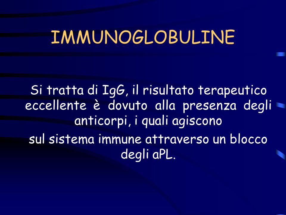 sul sistema immune attraverso un blocco degli aPL.