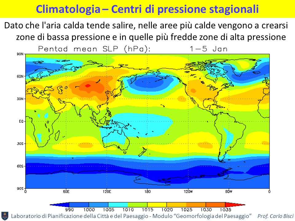 Climatologia – Centri di pressione stagionali