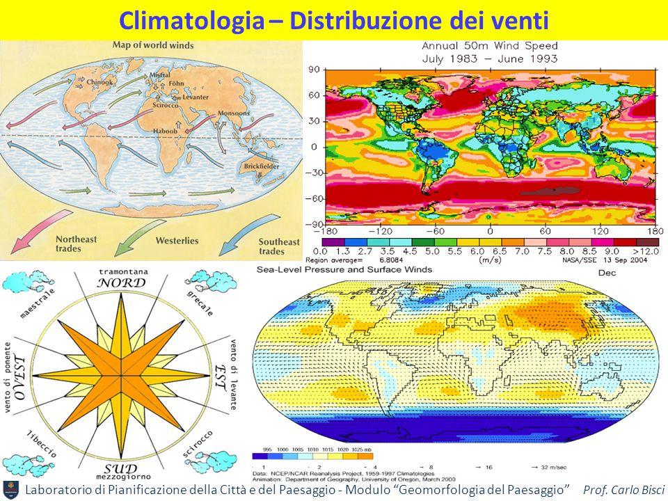 Climatologia – Distribuzione dei venti