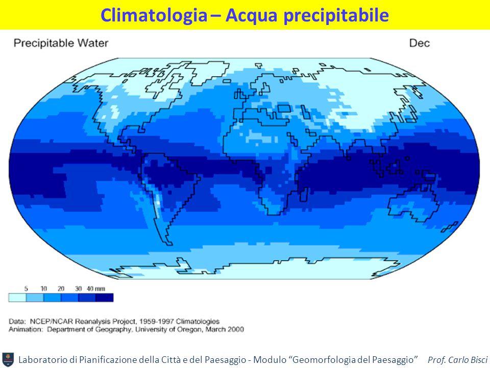 Climatologia – Acqua precipitabile