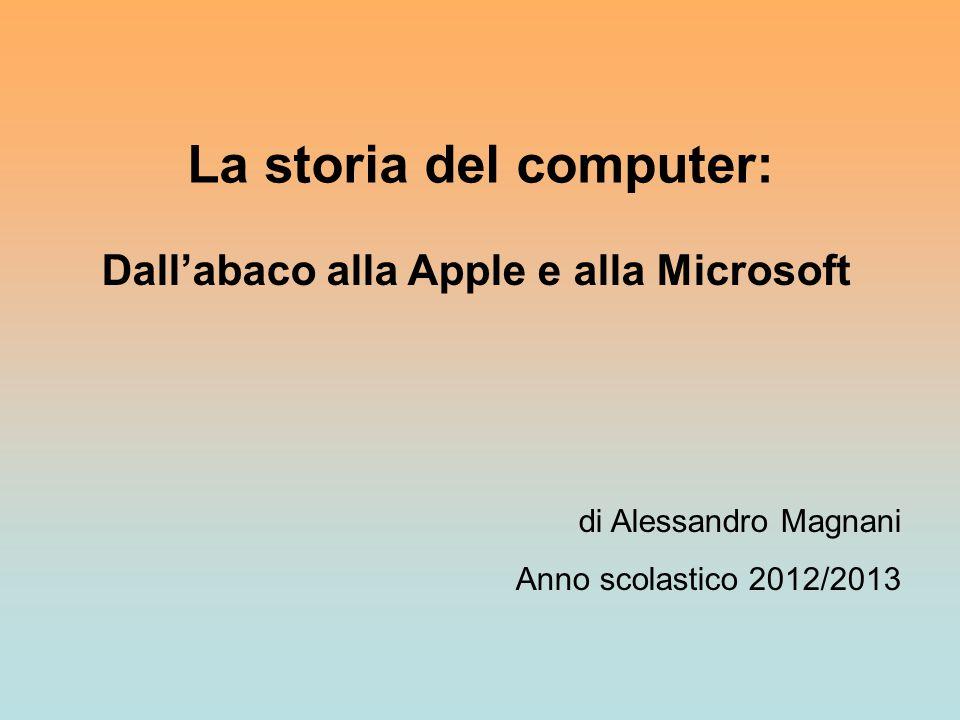 La storia del computer: Dall'abaco alla Apple e alla Microsoft
