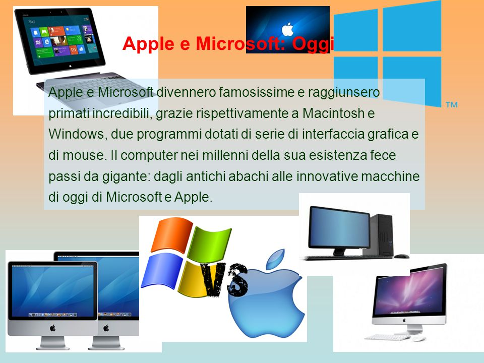 Apple e Microsoft: Oggi
