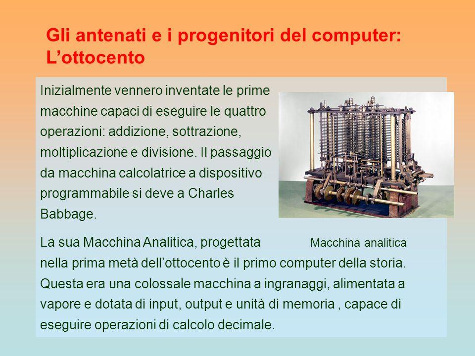 Gli antenati e i progenitori del computer: L'ottocento