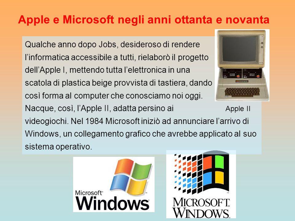 Apple e Microsoft negli anni ottanta e novanta