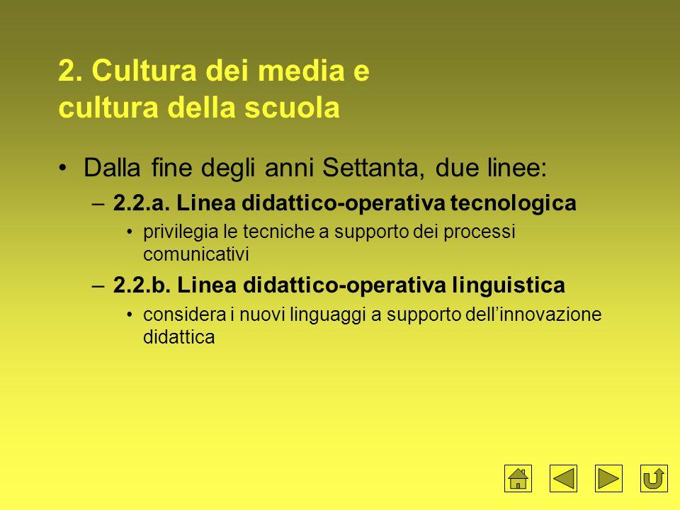 2. Cultura dei media e cultura della scuola