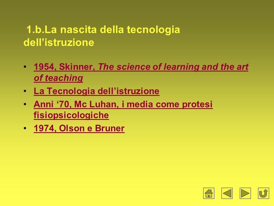 1.b.La nascita della tecnologia dell'istruzione