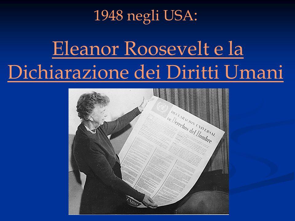 Eleanor Roosevelt e la Dichiarazione dei Diritti Umani
