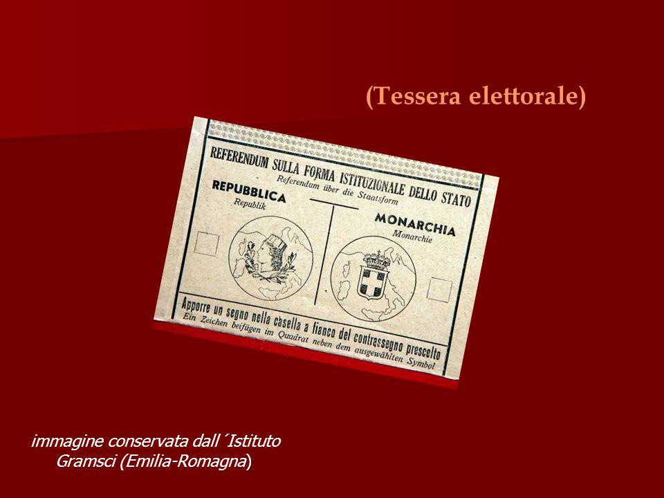 (Tessera elettorale) immagine conservata dall´Istituto Gramsci (Emilia-Romagna)