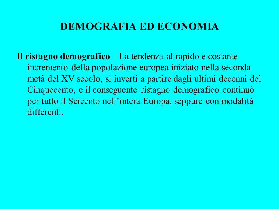 DEMOGRAFIA ED ECONOMIA