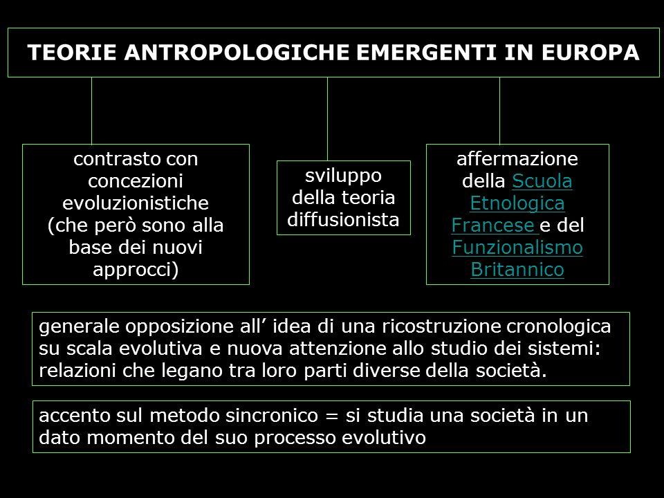 TEORIE ANTROPOLOGICHE EMERGENTI IN EUROPA