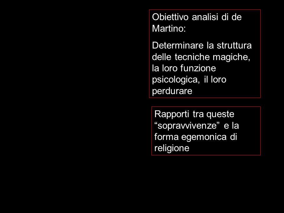 Obiettivo analisi di de Martino: