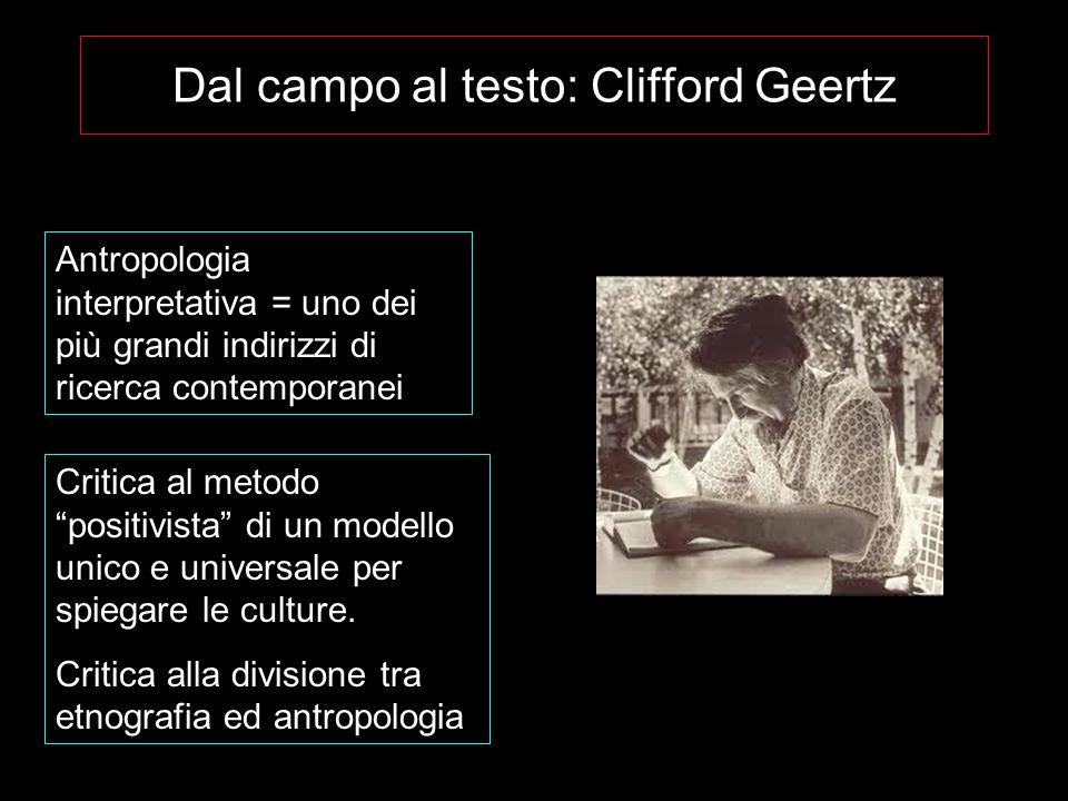 Dal campo al testo: Clifford Geertz