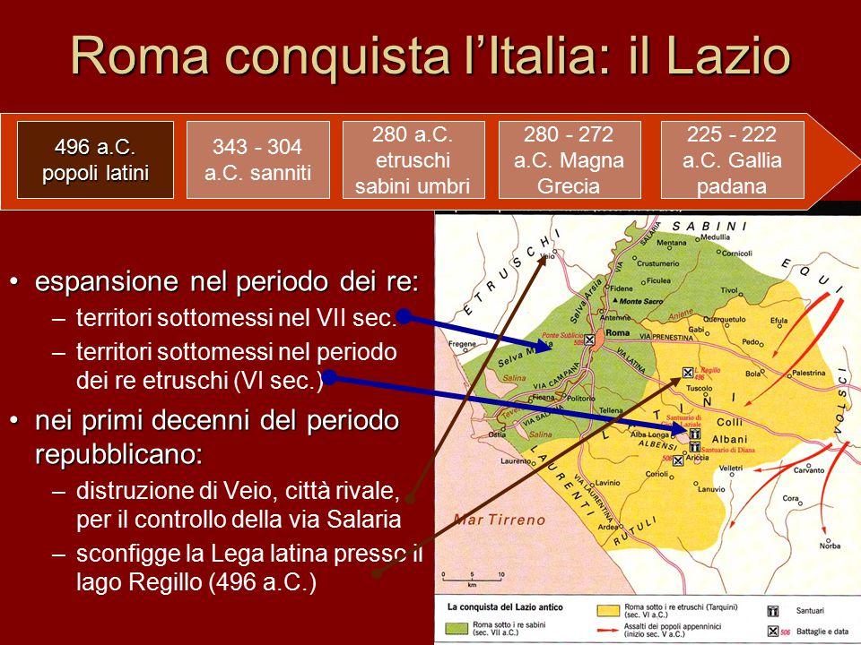 Roma conquista l'Italia: il Lazio