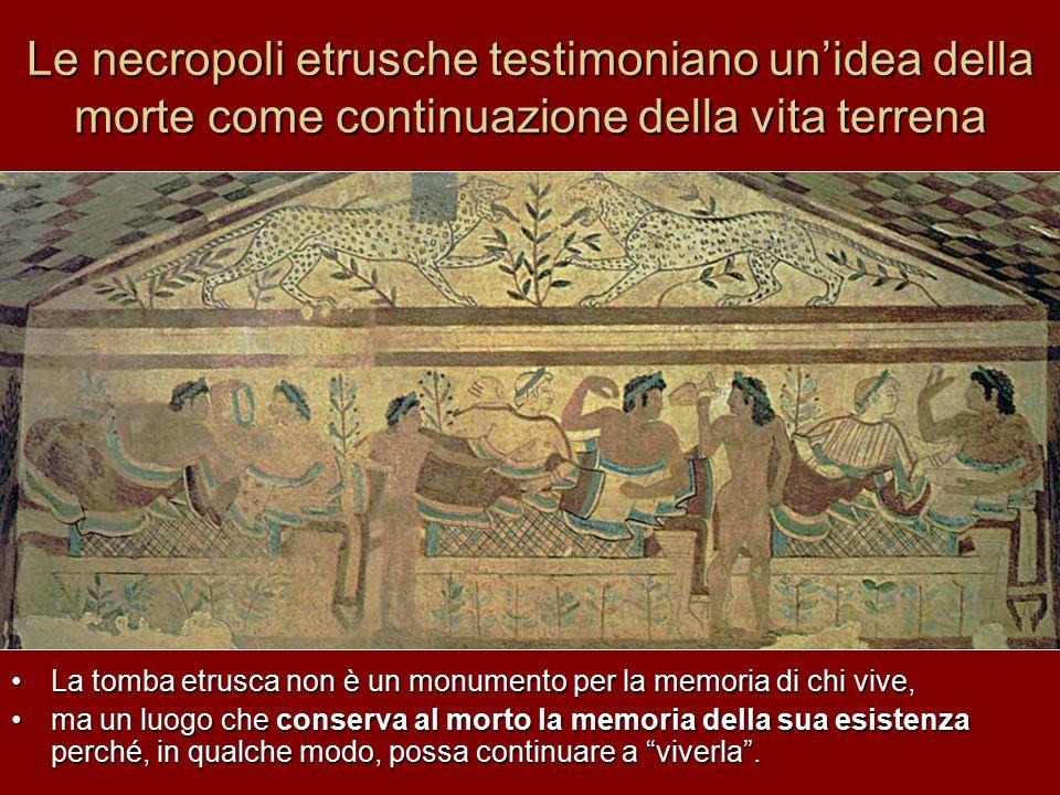 Le necropoli etrusche testimoniano un'idea della morte come continuazione della vita terrena
