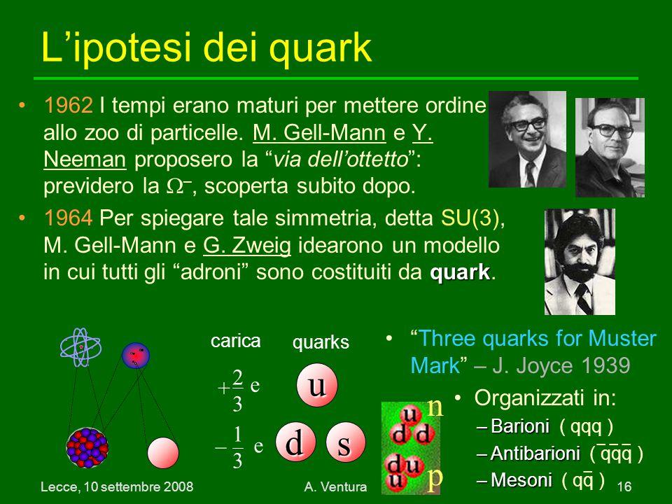 L'ipotesi dei quark u d s n p