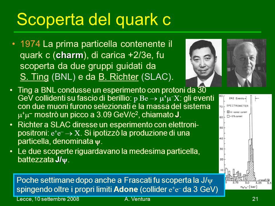 Scoperta del quark c
