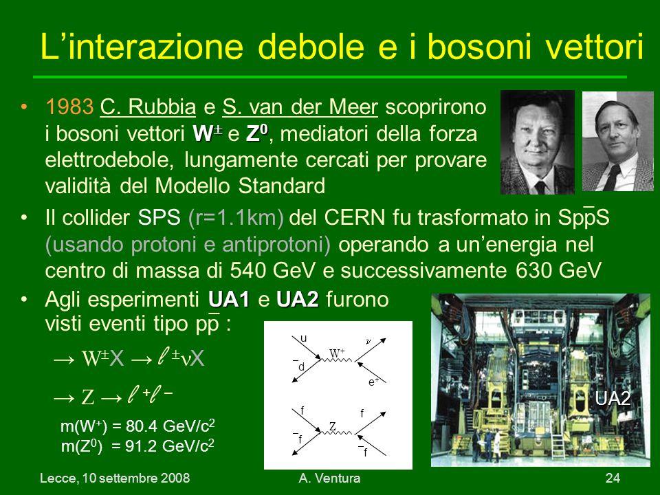L'interazione debole e i bosoni vettori
