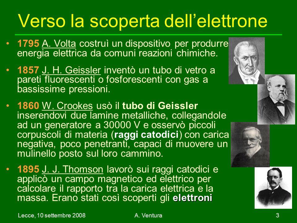 Verso la scoperta dell'elettrone