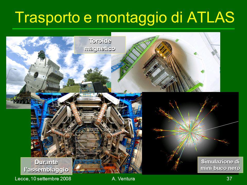 Trasporto e montaggio di ATLAS