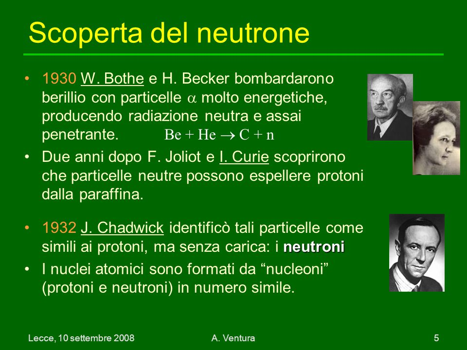 Scoperta del neutrone
