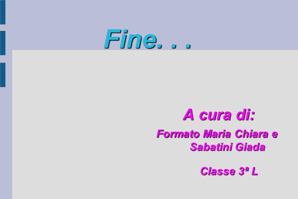 Fine. . . A cura di: Formato Maria Chiara e Sabatini Giada Classe 3ª L