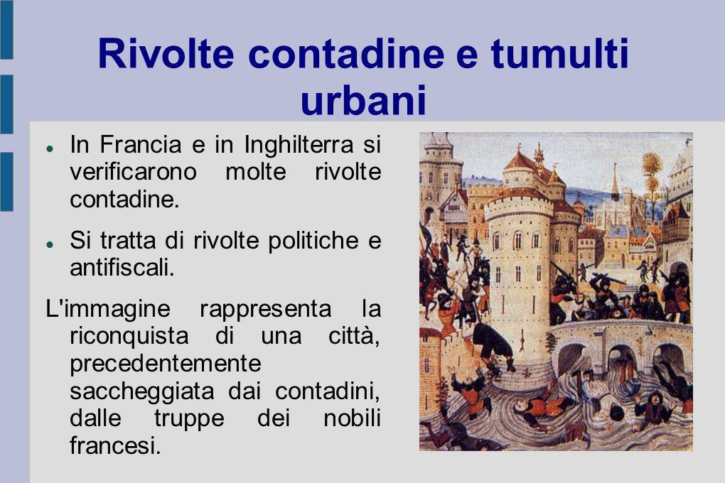 Rivolte contadine e tumulti urbani
