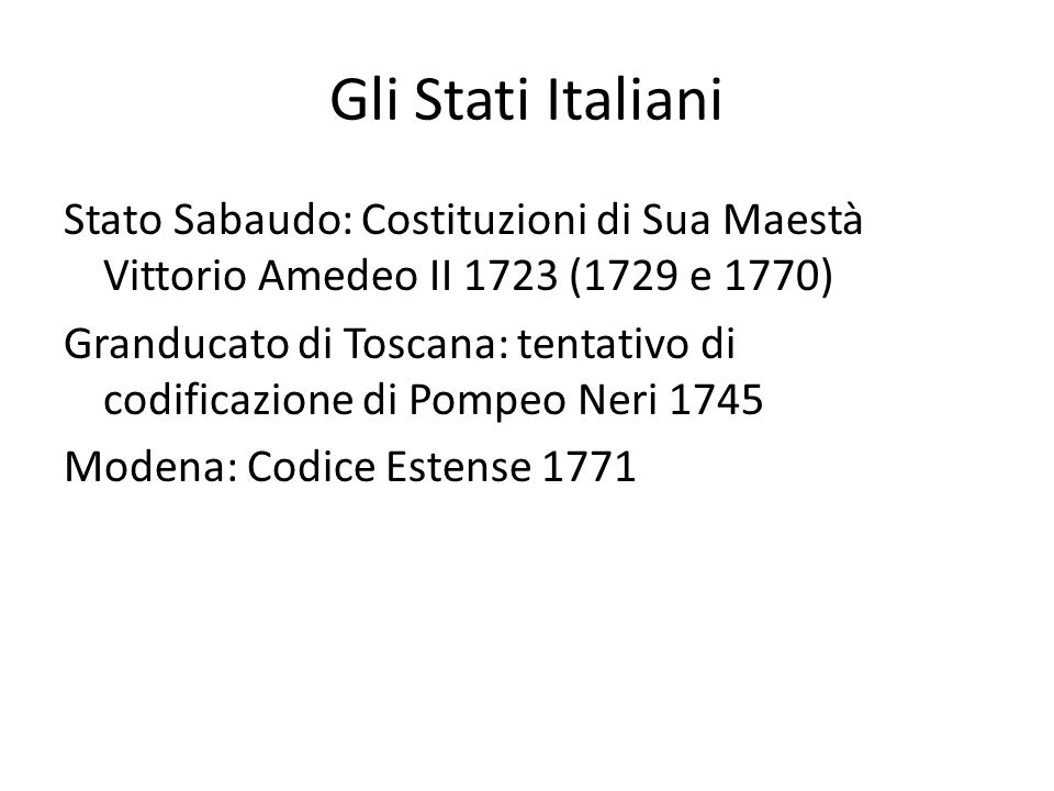 Gli Stati Italiani