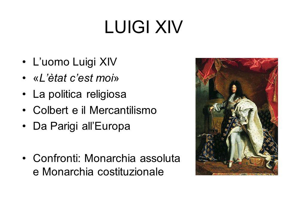 LUIGI XIV L'uomo Luigi XIV «L'ètat c'est moi» La politica religiosa
