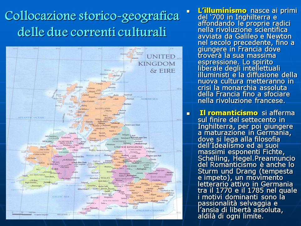 Collocazione storico-geografica delle due correnti culturali