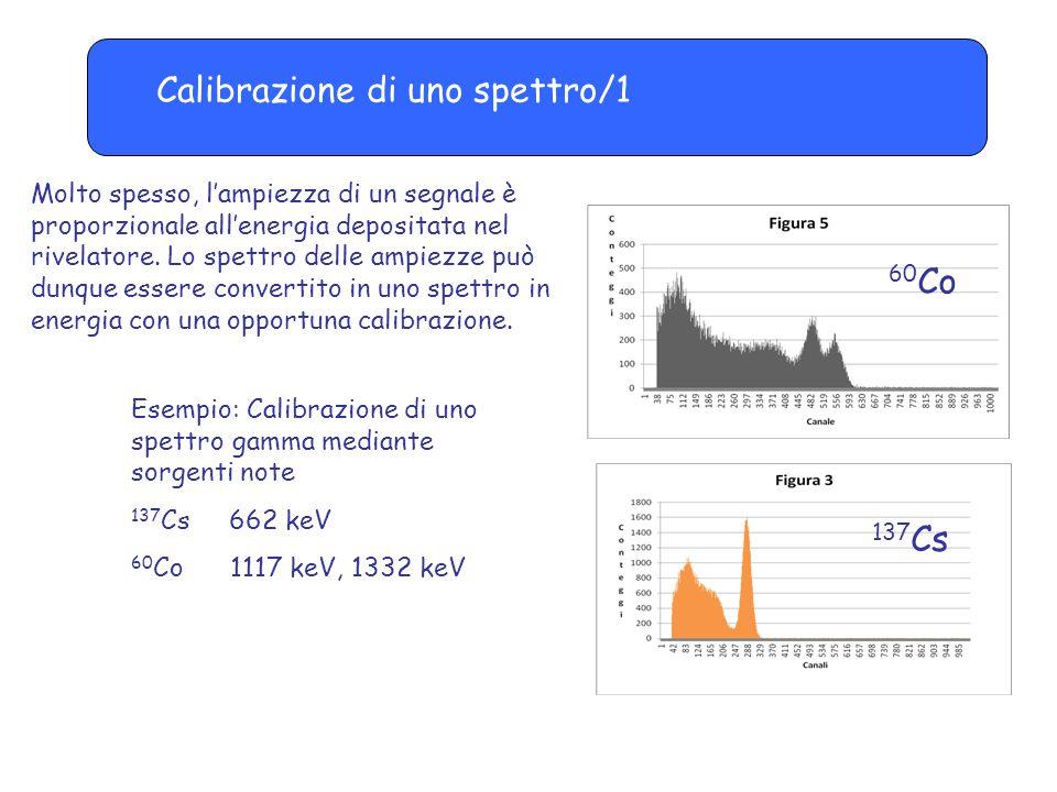 Calibrazione di uno spettro/1