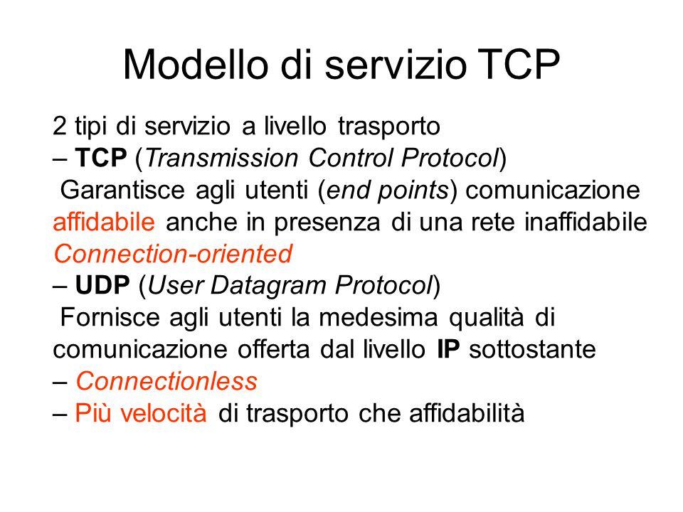 Modello di servizio TCP