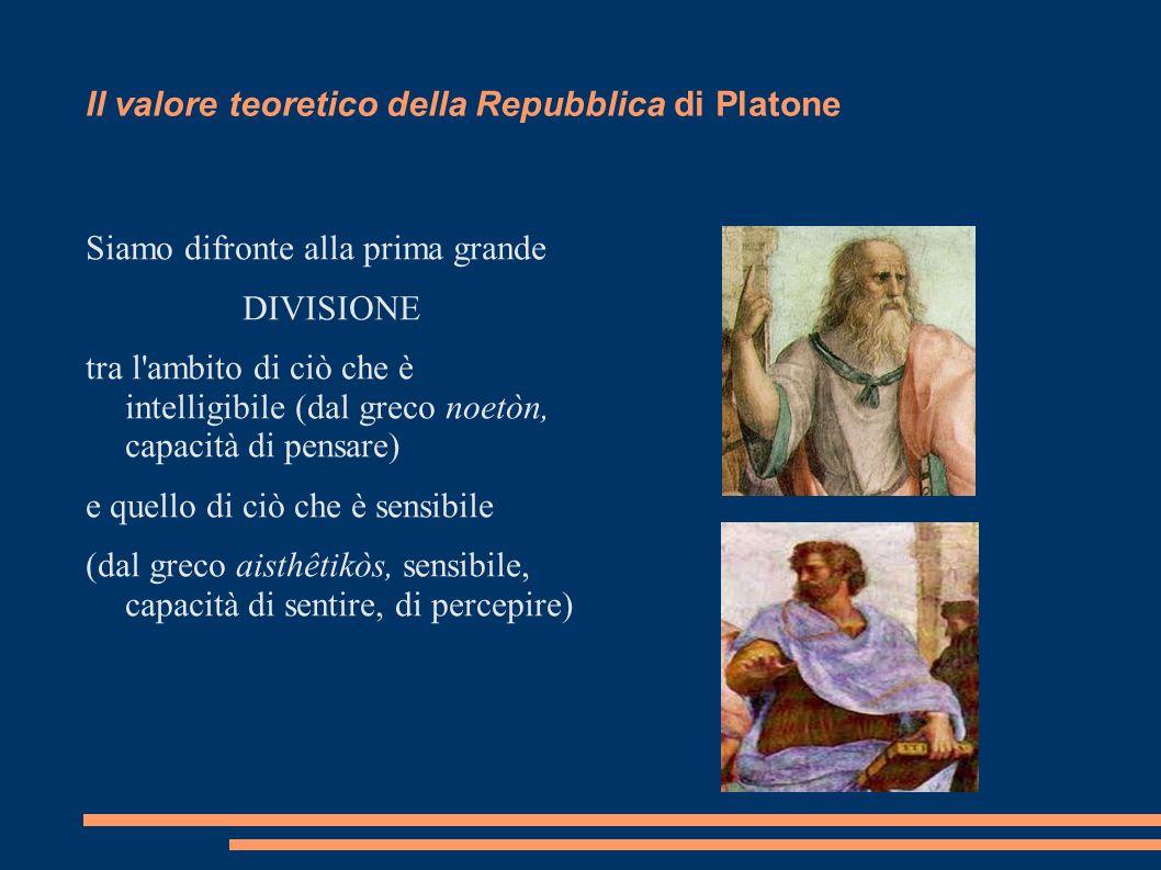 Il valore teoretico della Repubblica di Platone