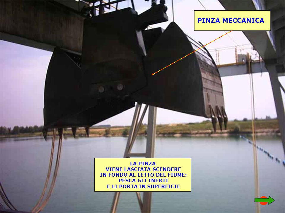 PINZA MECCANICA LA PINZA VIENE LASCIATA SCENDERE