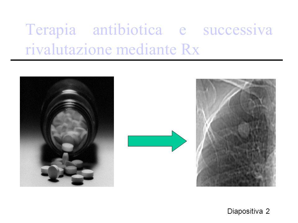 Terapia antibiotica e successiva rivalutazione mediante Rx