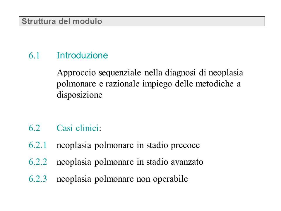 6.2.1 neoplasia polmonare in stadio precoce
