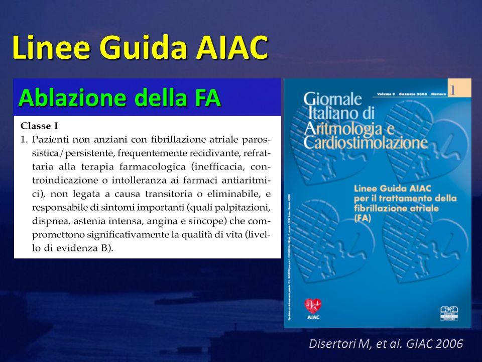 Linee Guida AIAC Ablazione della FA Disertori M, et al. GIAC 2006