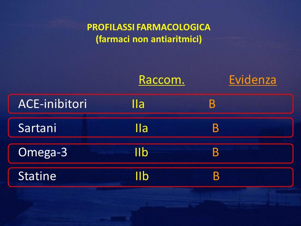 PROFILASSI FARMACOLOGICA (farmaci non antiaritmici)