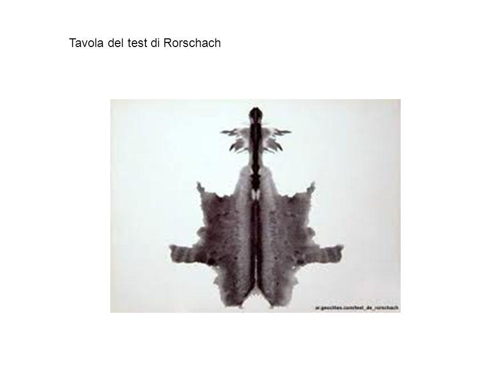 Tavola del test di Rorschach