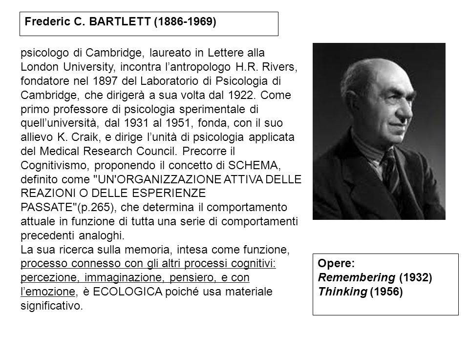 Frederic C. BARTLETT (1886-1969)