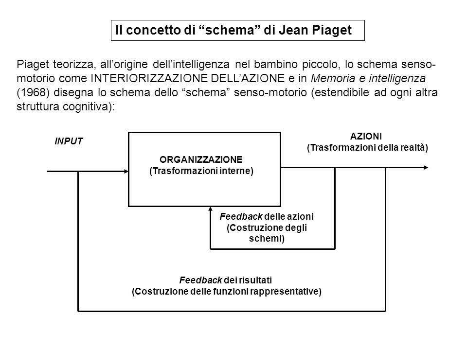 Il concetto di schema di Jean Piaget