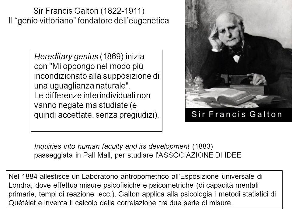 Il genio vittoriano fondatore dell'eugenetica