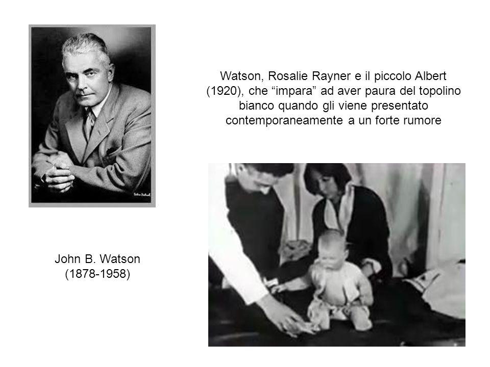 Watson, Rosalie Rayner e il piccolo Albert