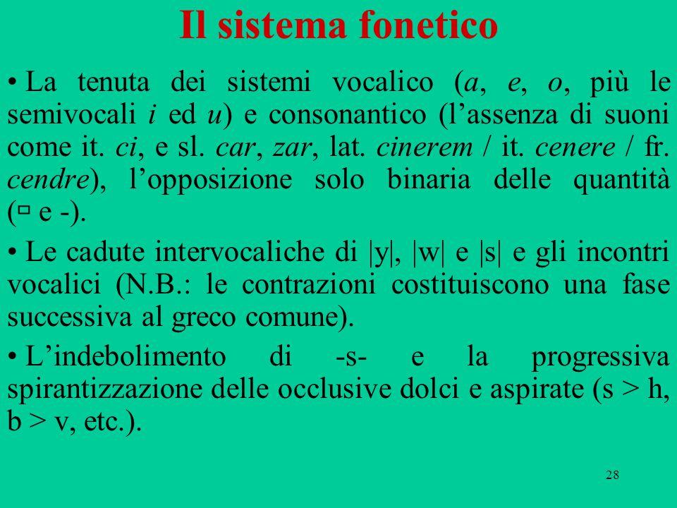 Il sistema fonetico