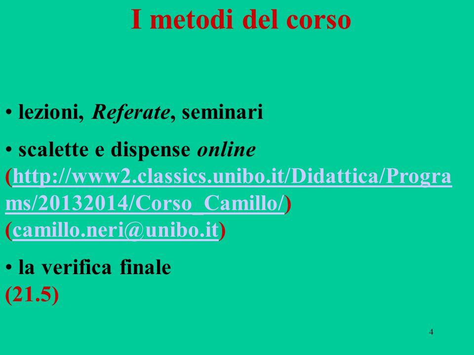 I metodi del corso lezioni, Referate, seminari