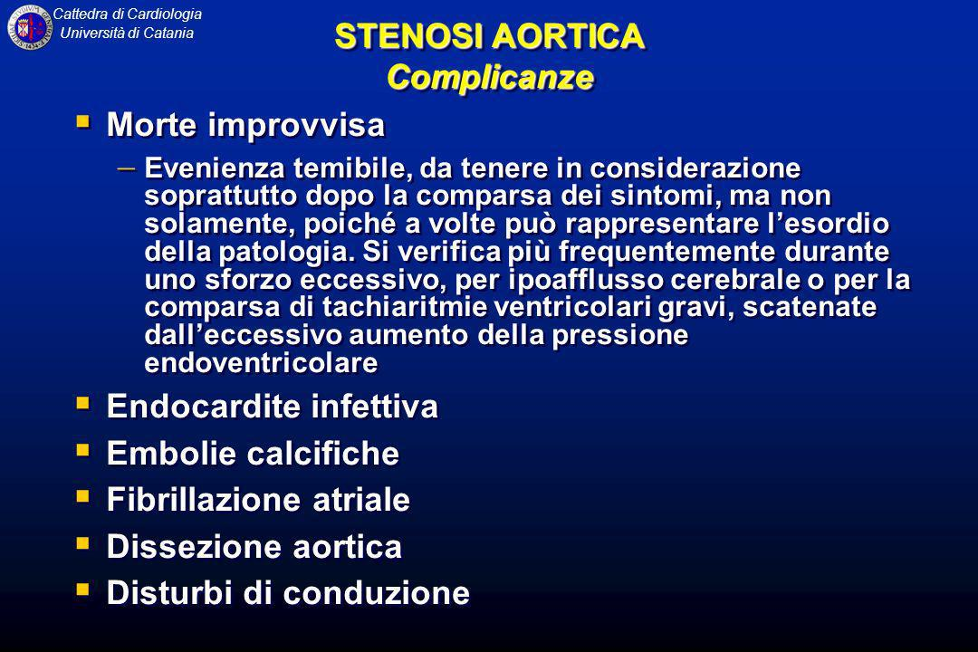 STENOSI AORTICA Complicanze